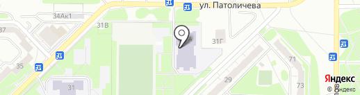 Средняя общеобразовательная школа №4 на карте Дзержинска