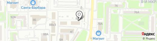 Церковная лавка на бульваре Космонавтов на карте Дзержинска