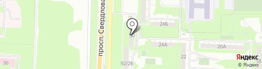Элком на карте Дзержинска