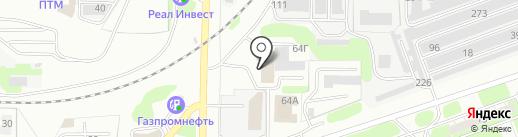 ПТО на карте Дзержинска