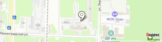Автосервис на ул. Лермонтова на карте Дзержинска
