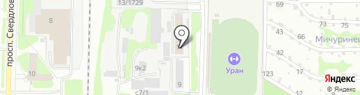 КУБ на карте Дзержинска
