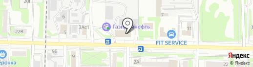 Нимфа на карте Дзержинска
