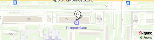 Кнопка на карте Дзержинска