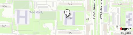 Средняя общеобразовательная школа №34 на карте Дзержинска