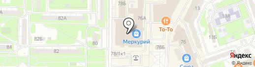 ТЭМ на карте Дзержинска