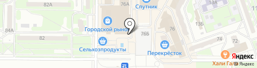 Киоск по продаже табачной продукции на карте Дзержинска
