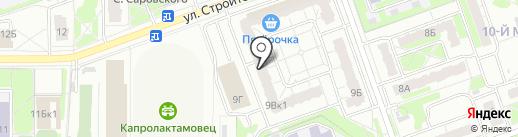 Центр Детской Медицины на карте Дзержинска