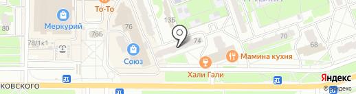 Изот на карте Дзержинска