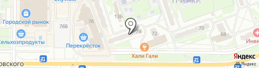 Мир очков на карте Дзержинска