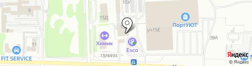 Первый обойный на карте Дзержинска