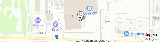МАЛЬВА-МЕБЕЛЬ на карте Дзержинска