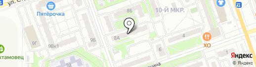 Факел на карте Дзержинска