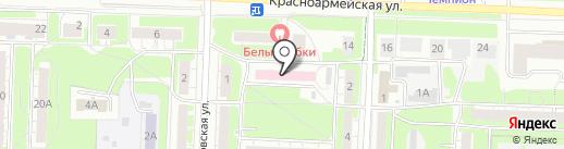 Поликлиника №1 на карте Дзержинска