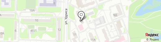 Снежинка на карте Дзержинска