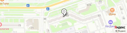 Тофа на карте Дзержинска