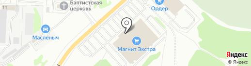 Федяково на карте Дзержинска