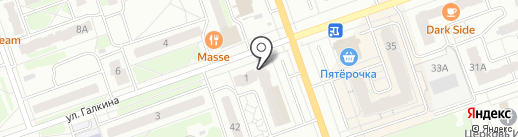 Красное & Белое на карте Дзержинска