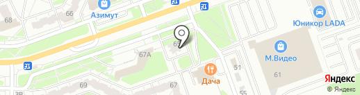 Эгоисты на карте Дзержинска