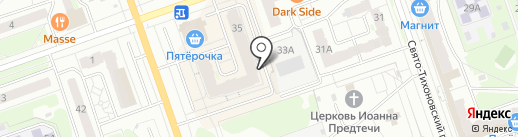 Парикмахерская на карте Дзержинска