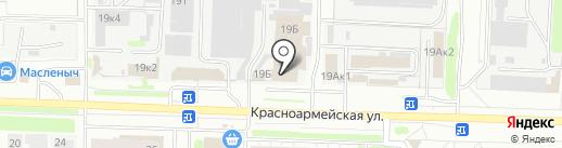 Свердловец на карте Дзержинска