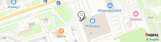 Карусель на карте Дзержинска