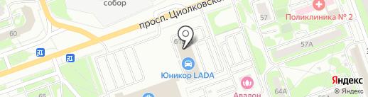 АШАН на карте Дзержинска