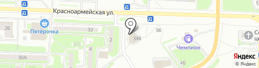 Ягуар на карте Дзержинска