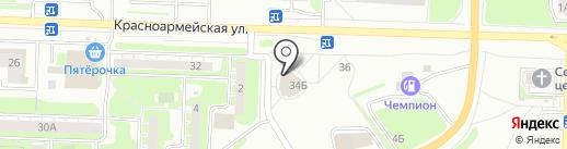 Магазин фастфудной продукции на карте Дзержинска