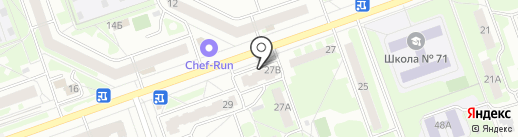 Миледи на карте Дзержинска