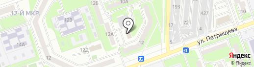 Адамант на карте Дзержинска