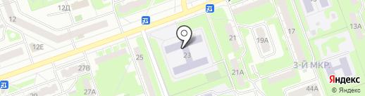 Средняя общеобразовательная школа №71 на карте Дзержинска