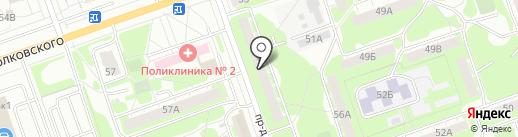 ТриО на карте Дзержинска