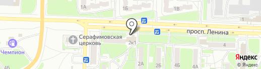 Магазин бытовой химии на карте Дзержинска