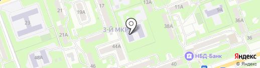Школа им. Н.И. Лобачевского на карте Дзержинска