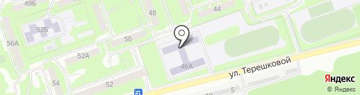 Средняя общеобразовательная школа №14 на карте Дзержинска