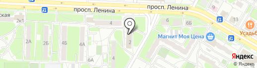 Растяпино на карте Дзержинска