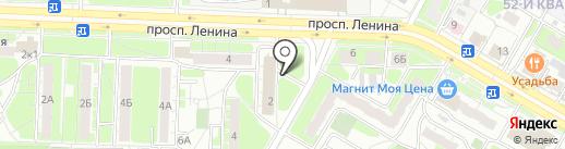 Киоск по продаже печатной продукции на карте Дзержинска