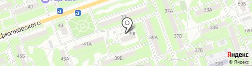 Уютный-2 на карте Дзержинска