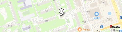 Домоуправляющая компания на карте Дзержинска
