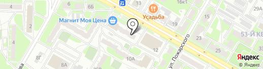 Пункт продажи проездных билетов на карте Дзержинска