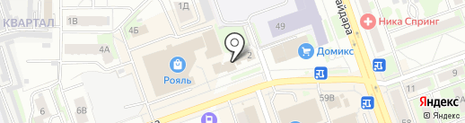 АСАТ на карте Дзержинска