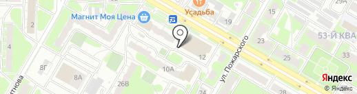 Киоск по продаже овощей и фруктов на карте Дзержинска