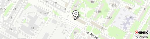 Новосёл на карте Дзержинска