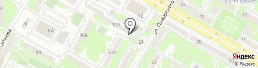 Клубничка на карте Дзержинска
