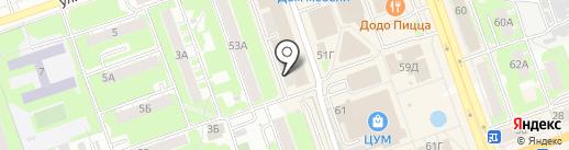 Сдобнов на карте Дзержинска
