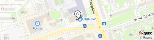 Домикс на карте Дзержинска