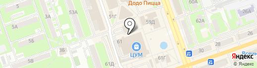 Vintage на карте Дзержинска