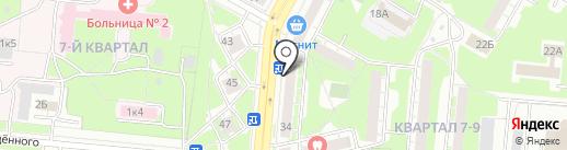 Диамант на карте Дзержинска