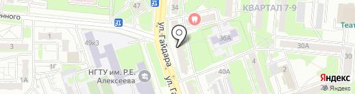 Ирис на карте Дзержинска